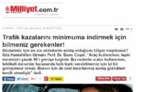 Milliyet,</br>Trafik kazalarını minimuma...</br>01.06.2017