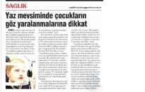 Yeniçağ Gazetesi,</br>Yaz Mevsiminde Çocukların...</br>06.07.2017