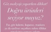 BW Türkiye </br> Göz Makyajı Yaparken Dikkat! </br> Ekim 2018