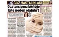 Posta, Göz Tansiyonu Körlüğe Bile... 19.10.2014