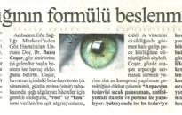 Cumhuriyet, Göz Sağlığının Formü... 19.01.2009