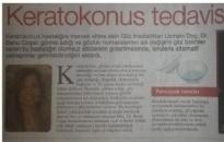 Hürriyet, Keratokonus Tedavisinde Lens... 02.10.2009