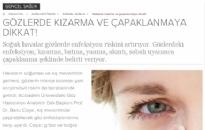 elele.com.tr</br>Gözde kızarma ve...</br> 11.11.2015