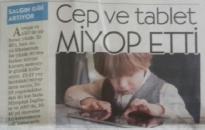 Cumhuriyet, </br> Cep ve Tablet Miyop Etti</br>14.01.2016