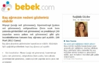 bebek.com Baş Ağrısının Nedeni... 08.03.2013