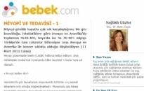 bebek.com Miyopi ve Tedavisi 11.03.2011