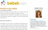 bebek.com Besinler ve Göz Sağlığı... 15.01.2010