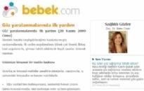 bebek.com Göz Yaralanmalarında İlk... 20.11.2009
