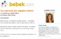 bebek.com Yaz Ayları Göz... 22.05.2009