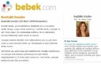 bebek.com Kontakt Lensler 26.09.2009