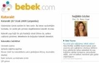 bebek.com Katarakt 07.01.2009