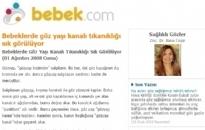 bebek.com Bebeklerde Göz Yaşı... 01.08.2008