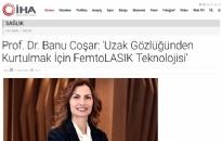 iha.com.tr Uzak Gözlüğünden Kurtulmak...</br>17.04.2019
