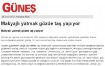 gunes.com Makyajlı Yatmak Gözde... 24.12.2012