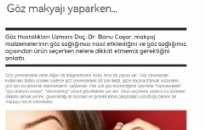 mahmure.com Göz Makyajı Yaparken... 08.10.2013