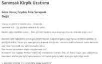notdenizi.com Sarımsak Kirpik Uzatır Mı? 05.11.2012