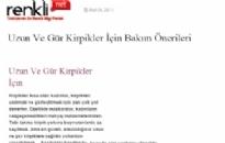 renklinot.com Uzun ve Gür Kirpikler İçin... 09.03.2011