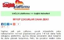saglikplatformu.com Miyop Çocuklar Daha Zeki! 01.01.2013
