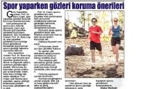 Medya Gazetesi,</br>Spor Yaparken Gözleri Koruma...</br>04.08.2017