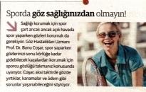 Dünya Gazetesi,</br>Sporda Göz Sağlığınızdan...</br>11.08.2017