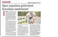 Yeniçağ Gazetesi,</br>Spor Yaparken Gözlerinizi...</br>13.08.2017