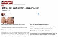 Hürriyet Tatilde Göz Problemleri... 29.07.2021